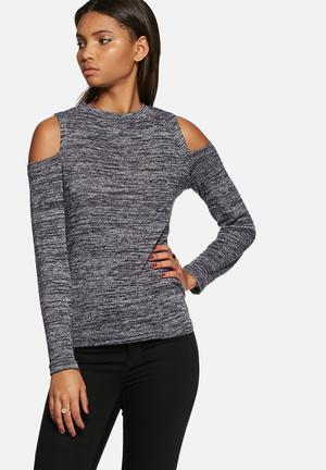 Dailyfriday Cold Shoulder Top T-Shirts, Vests & Camis Navy