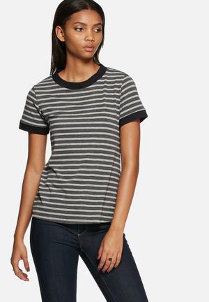 Dailyfriday Ringer Tee T-Shirts, Vests & Camis Grey