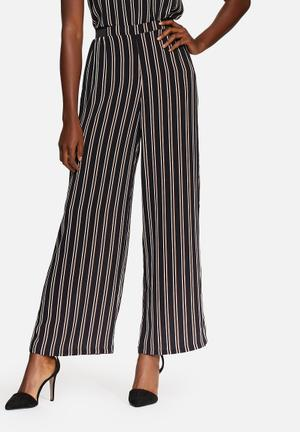 ONLY Pape Wide Pants Trousers Navy, White & Orange