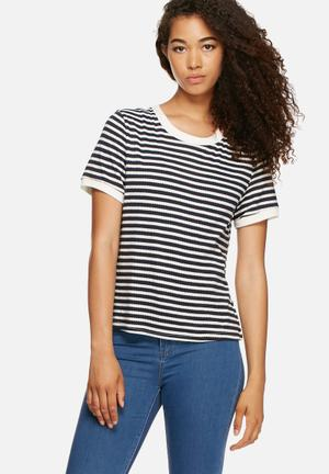 Glamorous Stripe Tee T-Shirts, Vests & Camis Navy & White