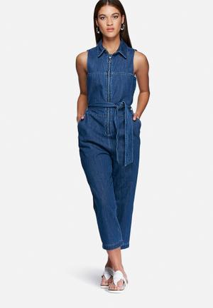 Vero Moda Wanessa Denim Jumpsuit Jeans Blue