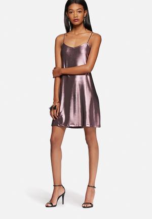 Motel Tiffany Slip Dress Occasion Pink