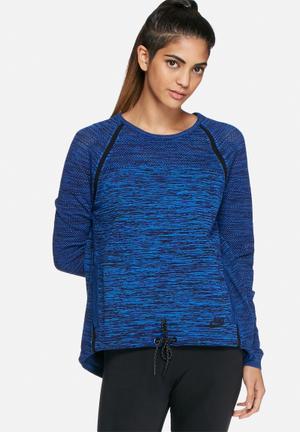 Nike Tech Knit Crew Neck T-Shirts Blue