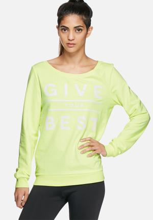 ONLY Play Give Your Best Sweat Hoodies & Jackets Yellow