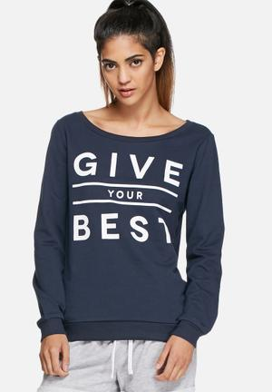 ONLY Play Eleta Sweater T-Shirts Navy
