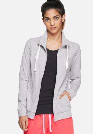 ONLY Play Limit Zip Sweat Hoodies & Jackets Light Grey Melange