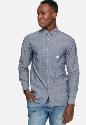 Jack & Jones Vintage Greenville Slim Shirt Medium Blue