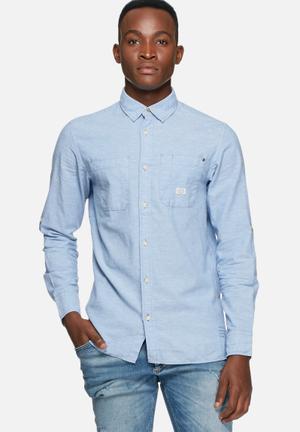 Jack & Jones Vintage Greenville Shirt Light Blue