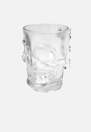 Kikkerland Skull Stein Beer Mug Glass
