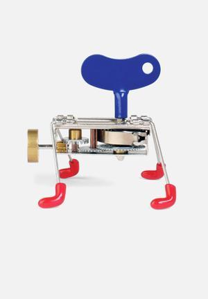 Kikkerland Spinney Critter Toys & LEGO Stainless Steel, Phthalate-free Vinyl Feet, ABS