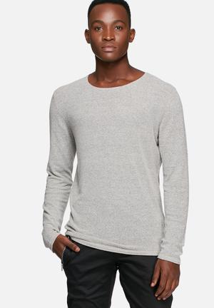 Jack & Jones Originals Lean Knit Top Knitwear Grey Melange