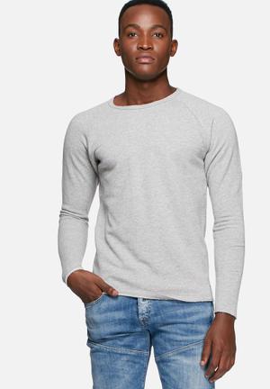 Jack & Jones Originals Sevan Sweater Hoodies & Sweatshirts Grey Melnage