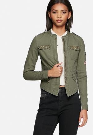 ONLY Austin Cargo Jacket Olive