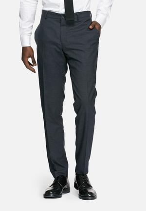 Jack & Jones Premium Roy Slim Check Trousers Pants Navy