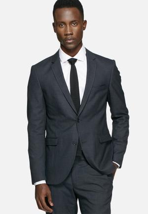 Jack & Jones Premium Roy Check Blazer Jackets & Coats Navy