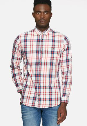 Jack & Jones Originals Check Shirt Red