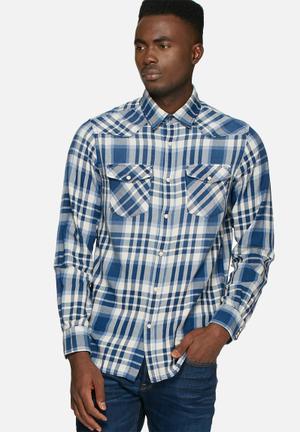 Jack & Jones Vintage Belmont Check Shirt Blue