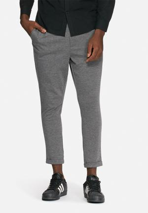 Only & Sons Solid Cropped Chino Grey Melange