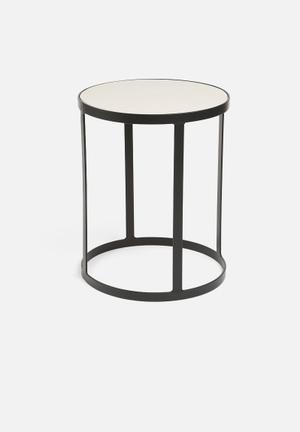 Sixth Floor Concrete Side Table Concrete Top & Metal Base