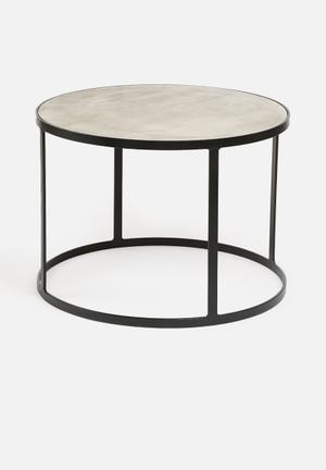 Sixth Floor Concrete Coffee Table Concrete Top & Metal Base