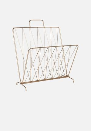 Present Time Diamond Raster Magazine Rack Accessories