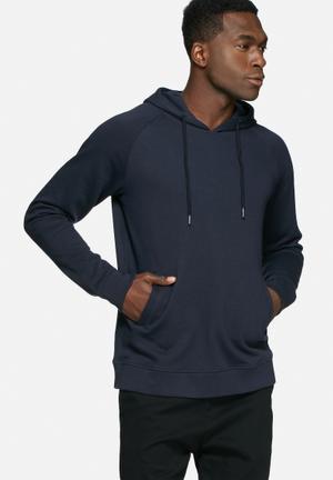 Basicthread Pull Over Hoodie Hoodies & Sweatshirts Navy