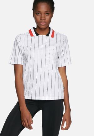 Adidas Originals Tennis Polo Tee T-Shirts White, Black & Red