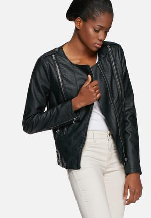 VILA Snowa PU Jacket Black