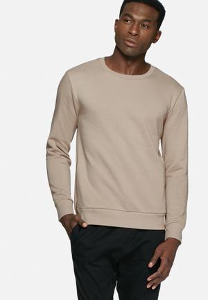 Basicthread Side Zip Sweat Hoodies & Sweatshirts Beige