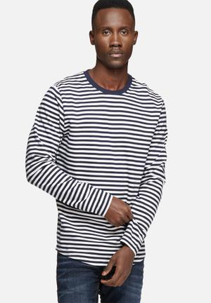 Jack & Jones Core Daniel Sweat Hoodies & Sweatshirts White & Navy