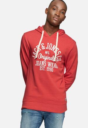 Jack & Jones Originals Sakis Sweater Hoodies & Sweatshirts Red