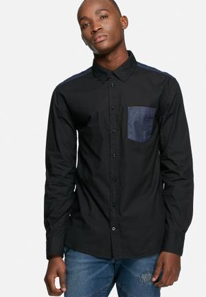 GUESS Mixed Shirt Black