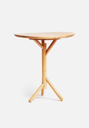 Kikkerland Stok Side Table Beachwood