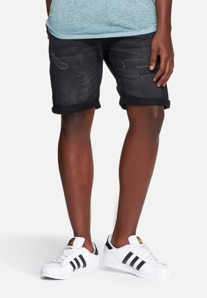 Jack & Jones Jeans Intelligence Rick Denim Shorts Black