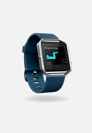 Fitbit Fitbit Blaze Fitness Trackers & Accessories Blue & Silver