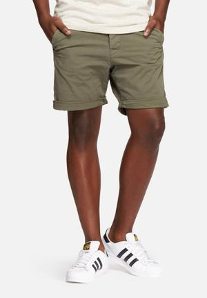 Only & Sons Dive Shorts Olive