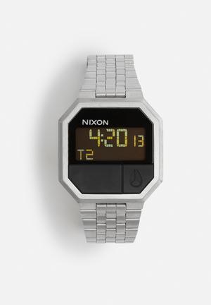 Nixon Re-Run Watches Silver / Black