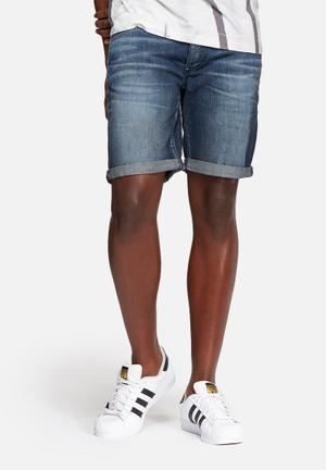 Selected Homme Alex Denim Shorts Dark Blue