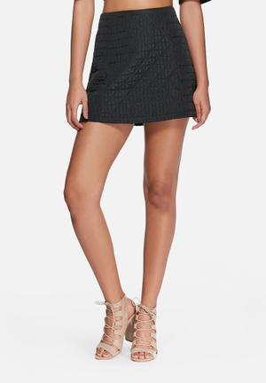Glamorous Quilted Mini Skirt Black