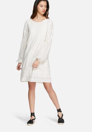 VILA Spy Dres Casual White
