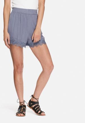 VILA Vaca Shorts Grey / Blue