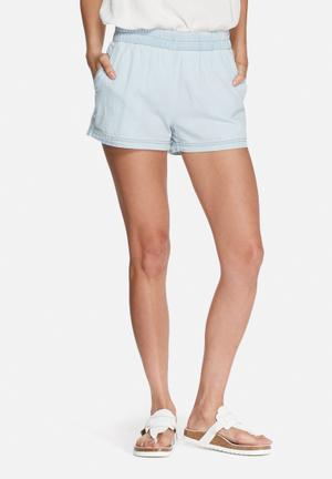 VILA Sako Denim Shorts Blue