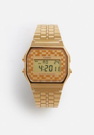 Casio Digital Alarm Chrono Watch  Stainless Steel