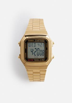 Casio Wide LCD Backlight Watch Gold