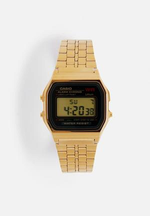 Casio Digital Wrist Watch A159WGEA-1DF Gold
