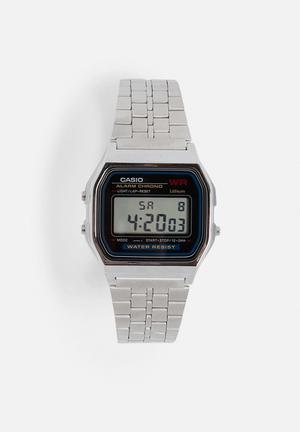Casio Digital Wrist Watch A159WA-N1DF Silver