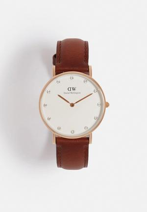 Daniel Wellington St Mawes Watches Rose Gold & Brown
