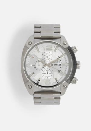 Diesel  Overflow Watches Silver / White