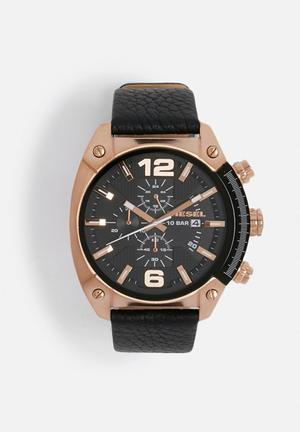 Diesel  Overflow Watches Black