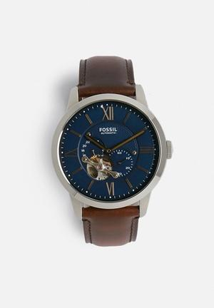 Fossil Townsman Automatic Watches Dark Brown
